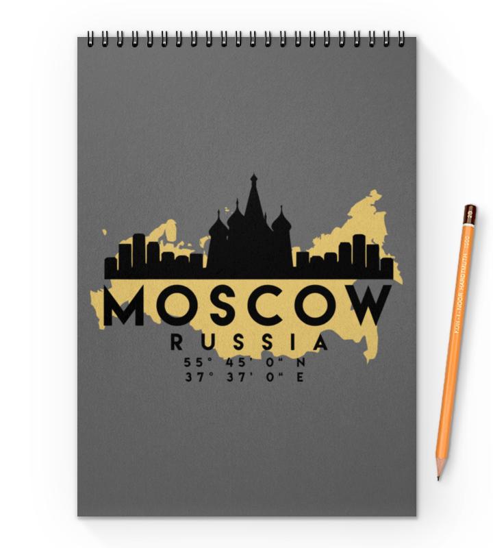 Printio Блокнот на пружине А4 Москва (россия)