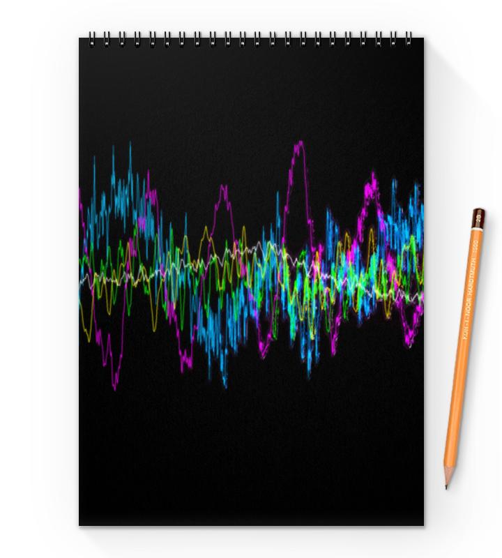 Printio Блокнот на пружине А4 Звуковая волна