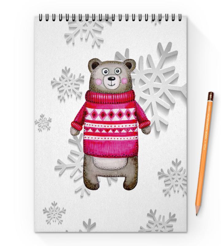 Printio Блокнот на пружине А4 Медведь printio блокнот на пружине а4 медведь