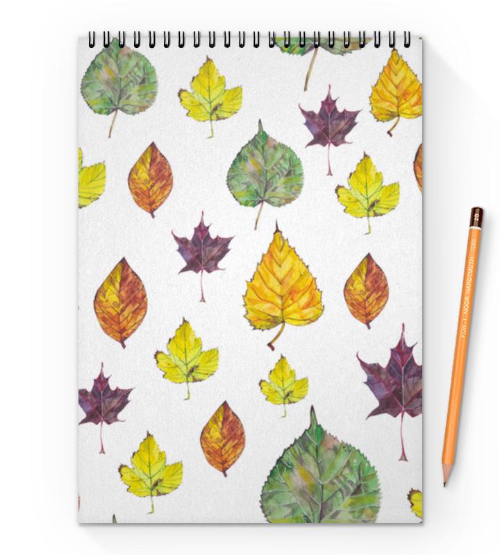 Printio Блокнот на пружине А4 Осенние листья printio блокнот на пружине а4 stickers