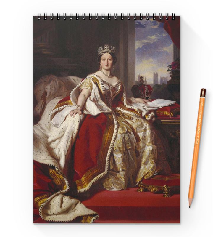 Printio Блокнот на пружине А4 Портрет королевы великобритании виктории