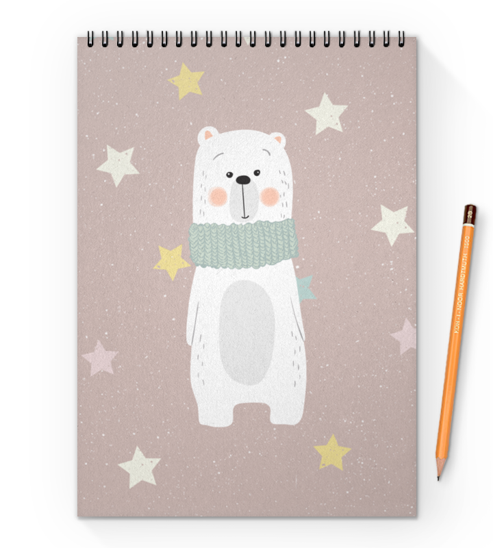 Printio Блокнот на пружине А4 Белый медведь printio блокнот на пружине а4 медведь