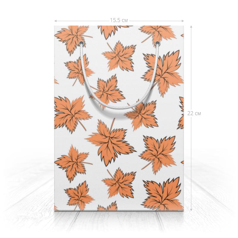 Printio Пакет 15.5x22x5 см Кленовые листья оранжевые