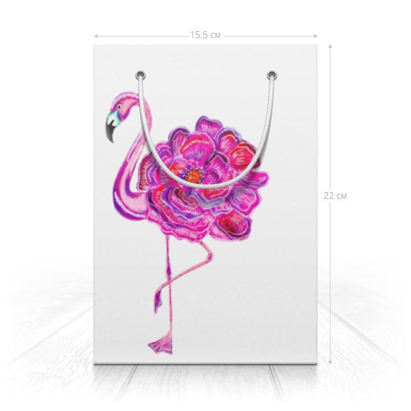 Printio Пакет 15.5x22x5 см Розовый фламинго