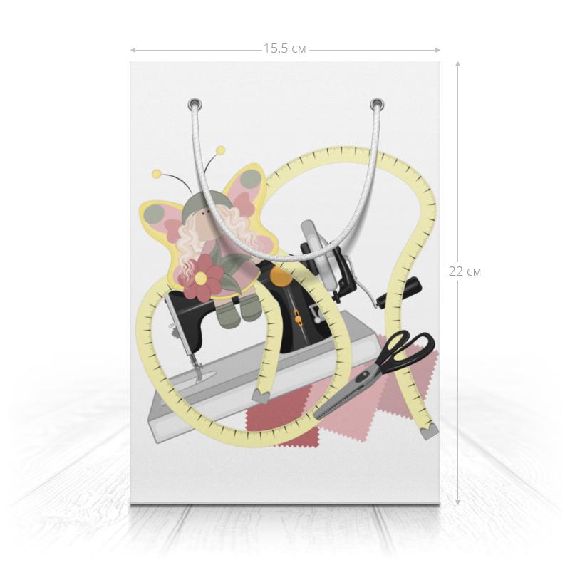 Printio Пакет 15.5x22x5 см Хобби - швейная машинка, ножницы и кукла