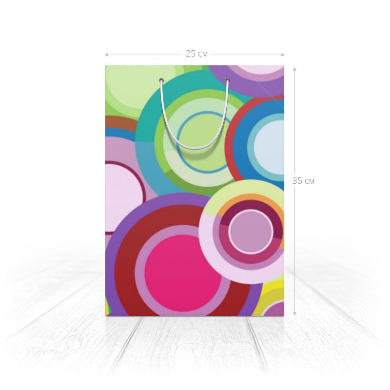 Printio Пакет 25x35x8 cм Цветные круги