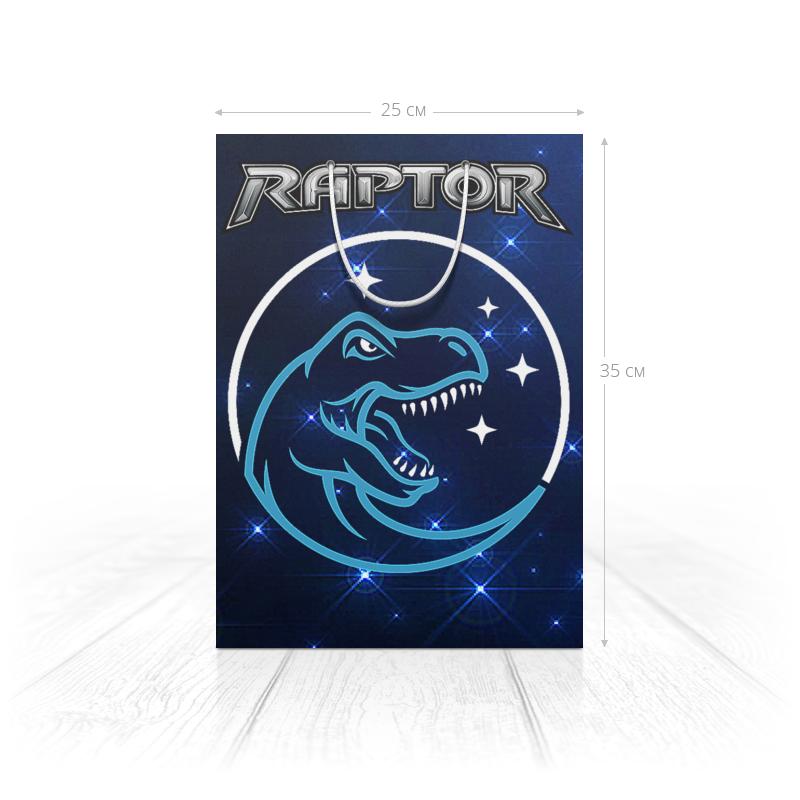 Printio Пакет 25x35x8 cм Динозавры фэнтези. raptor