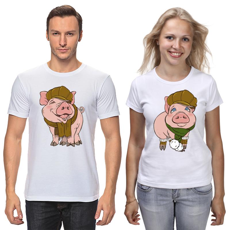 Printio Футболки парные Свинья