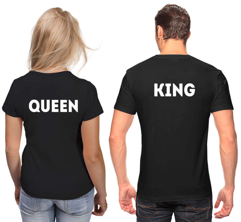 Printio Футболки парные King and queen