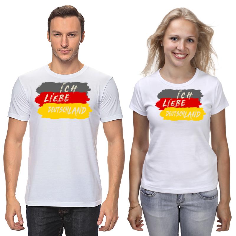 Printio Футболки парные Немецкие надписи