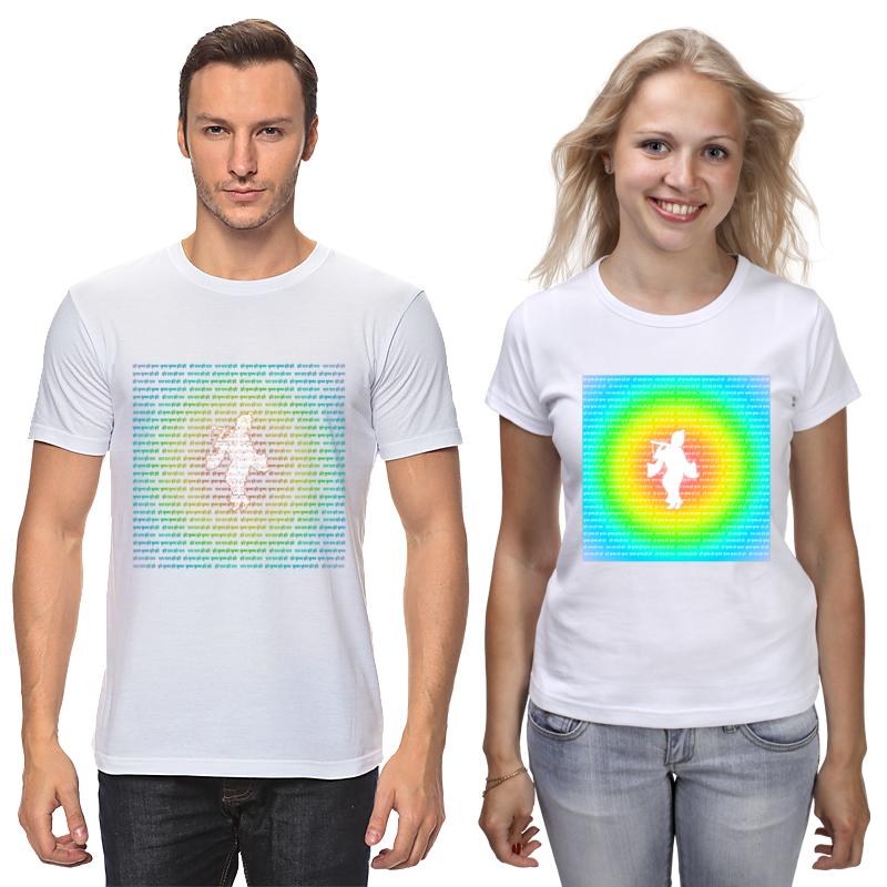 Printio Футболки парные Двойной дизайн для кришнаитов шри кришна и мантра