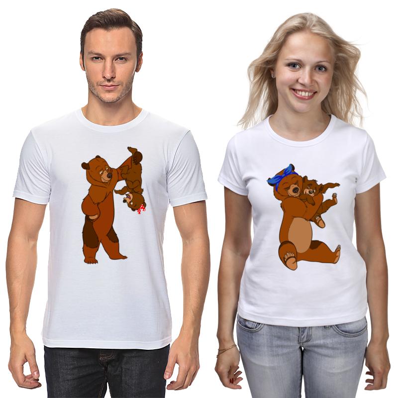 Printio Футболки парные Медведь и медведица
