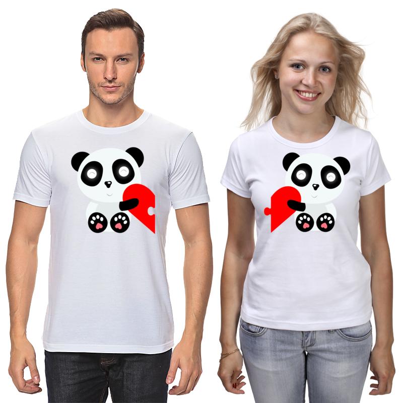 Printio Футболки парные Влюбленные панды
