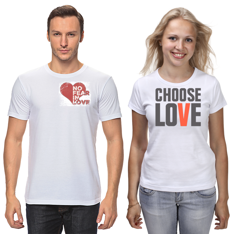 Printio Футболки парные «выбери любовь»