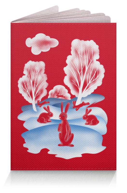 Printio Обложка для паспорта Красные зайцы