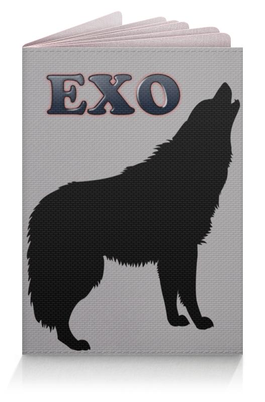 Printio Обложка для паспорта Exo (wolf) серый