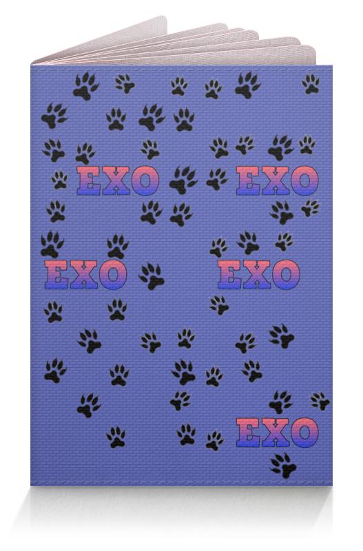 Printio Обложка для паспорта Exo (следы) синий