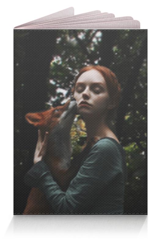 Printio Обложка для паспорта Девушка с лисой