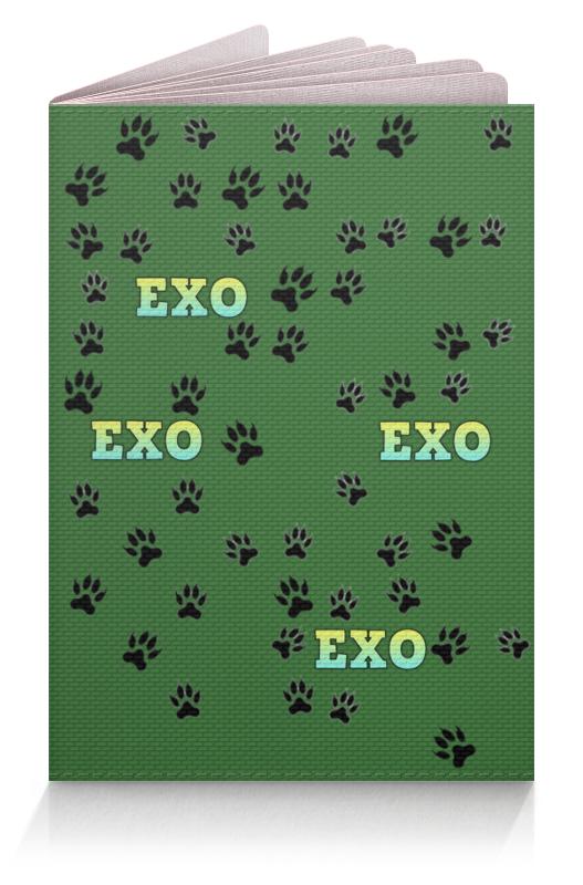 Printio Обложка для паспорта Exo (следы) зеленый