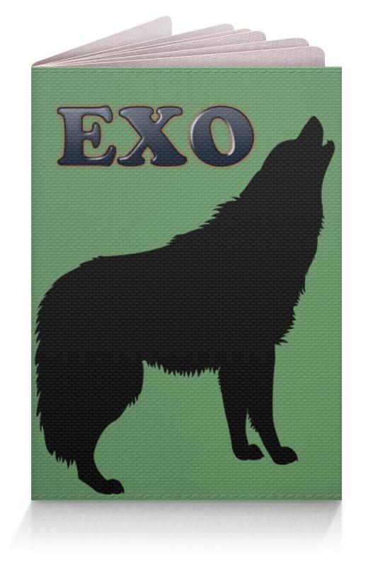 Printio Обложка для паспорта Exo (wolf) зеленый