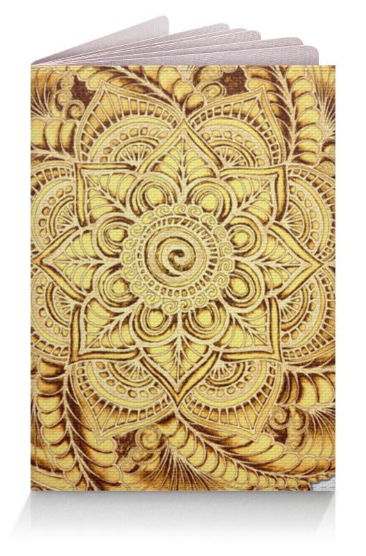 Фото - Printio Обложка для паспорта Золотой цветок мандала printio обложка для паспорта цветок розовой эхинацеи