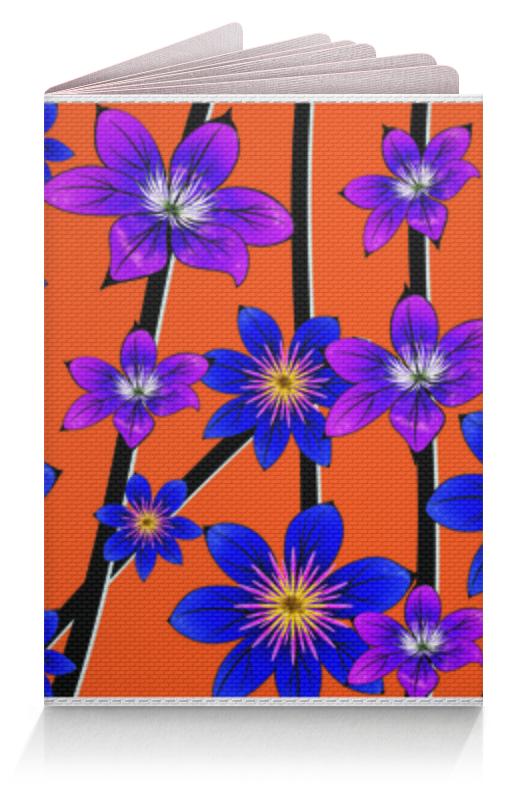 Printio Обложка для паспорта Синие цветы