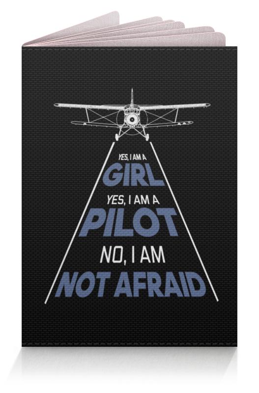 Printio Обложка для паспорта Девушка-пилот