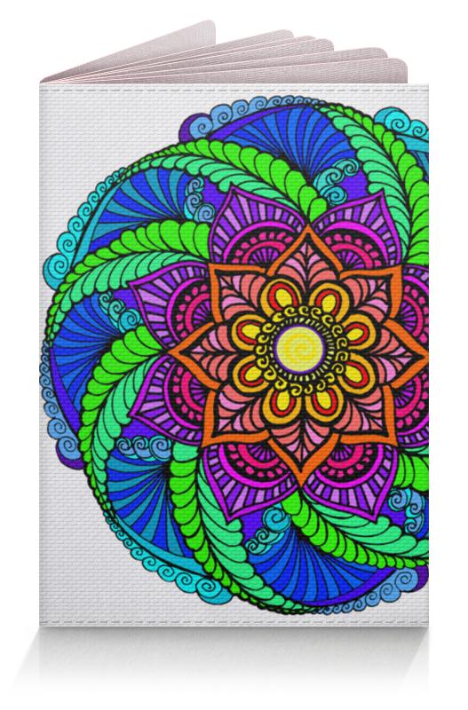 Фото - Printio Обложка для паспорта Яркий цветок в этническом стиле printio обложка для паспорта цветок розовой эхинацеи