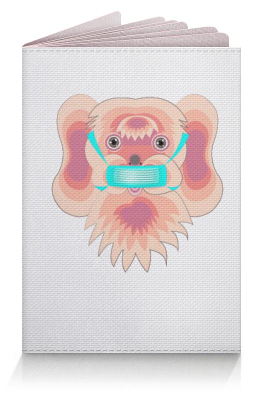 Фото - Printio Обложка для паспорта Болонка в маске printio обложка для паспорта цветок розовой эхинацеи