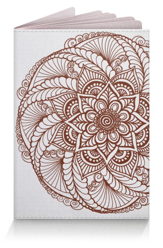 Фото - Printio Обложка для паспорта Цветок в стиле росписи хной printio обложка для паспорта цветок розовой эхинацеи