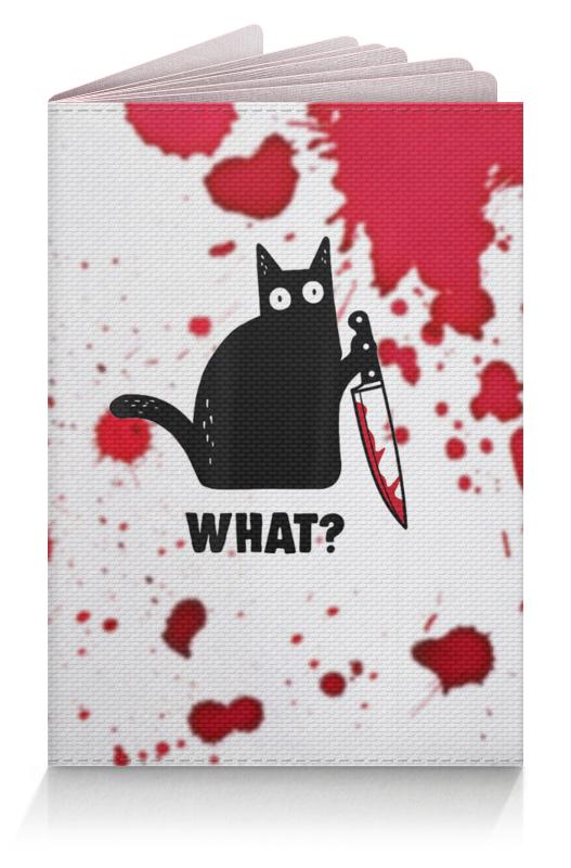 Printio Обложка для паспорта Кот с ножом