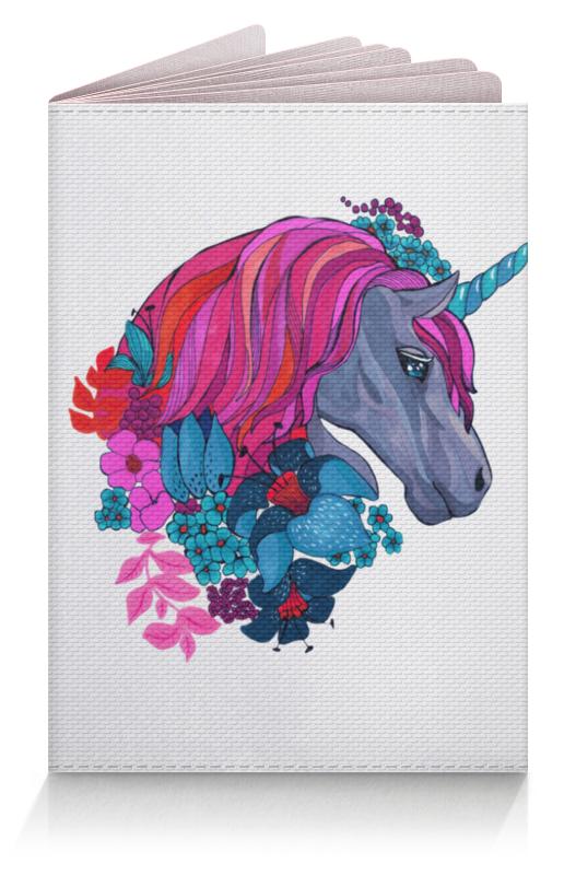 Фото - Printio Обложка для паспорта Единорог с розовыми волосами в цветах printio обложка для паспорта динозавры фэнтези