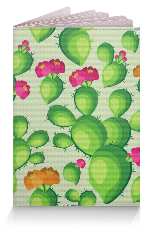Printio Обложка для паспорта Кактусы в цвету