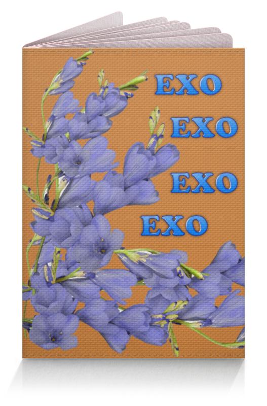 Printio Обложка для паспорта Exo синие цветы