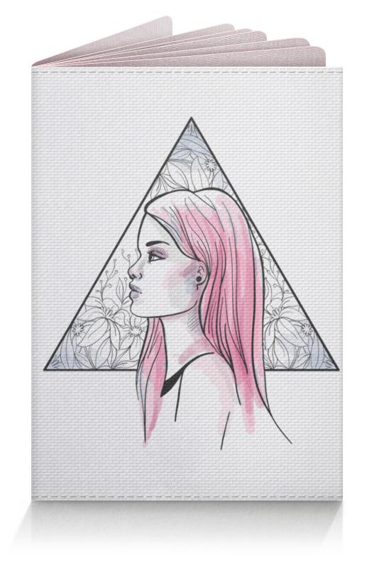 Printio Обложка для паспорта Модная современная девушка в треугольнике