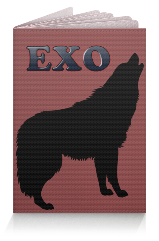 Printio Обложка для паспорта Exo (wolf) красный