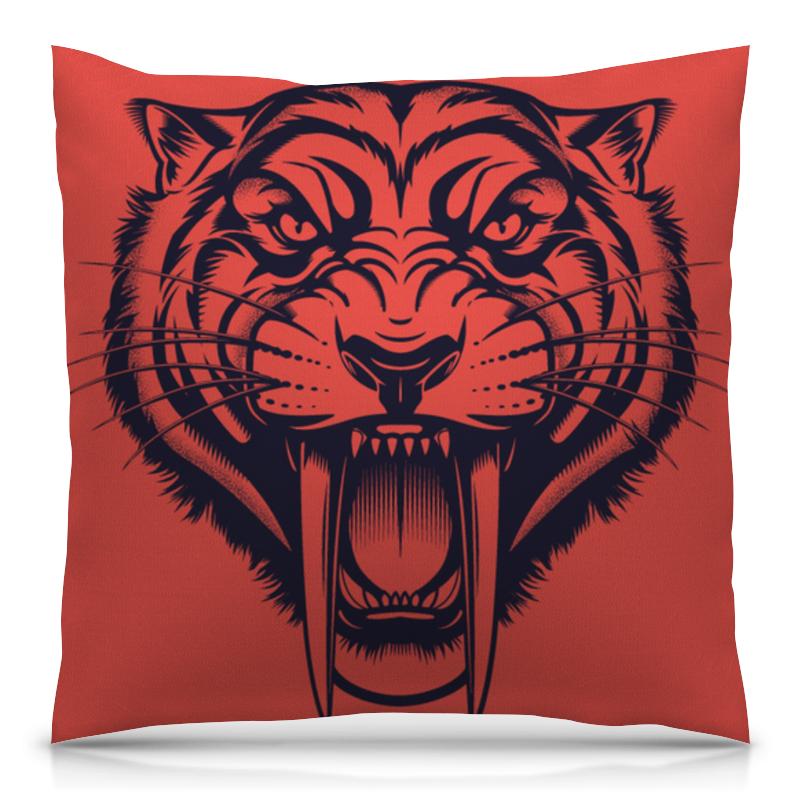 Printio Подушка 40x40 см с полной запечаткой Саблезубый тигр
