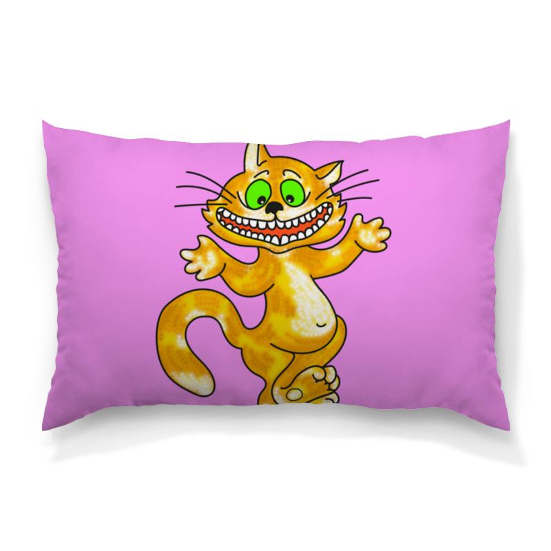 Фото - Printio Подушка 60x40 см с полной запечаткой Улыбка чеширского кота ультратонкая защитная накладка soft touch для samsung galaxy a32 с принтом улыбка чеширского кота черная