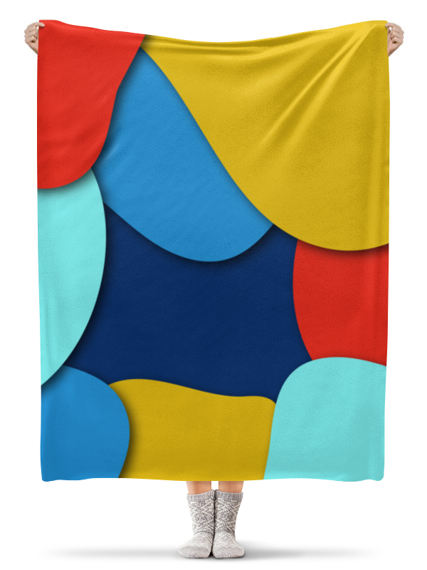 Printio Плед флисовый 130×170 см Разноцветная абстракция плед флисовый тамитекс хеллоуин