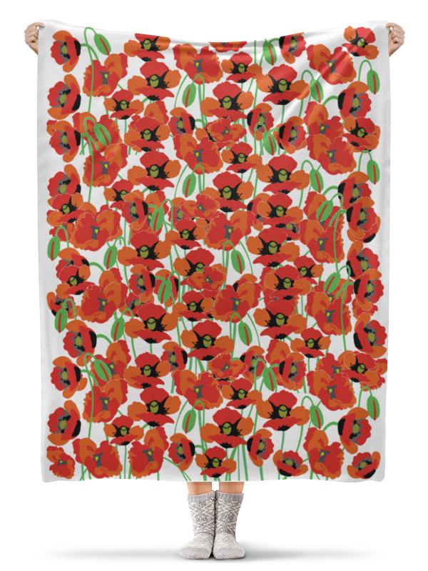 Фото - Printio Плед флисовый 130×170 см Красные маки printio плед флисовый 130×170 см красные маки на белом фоне