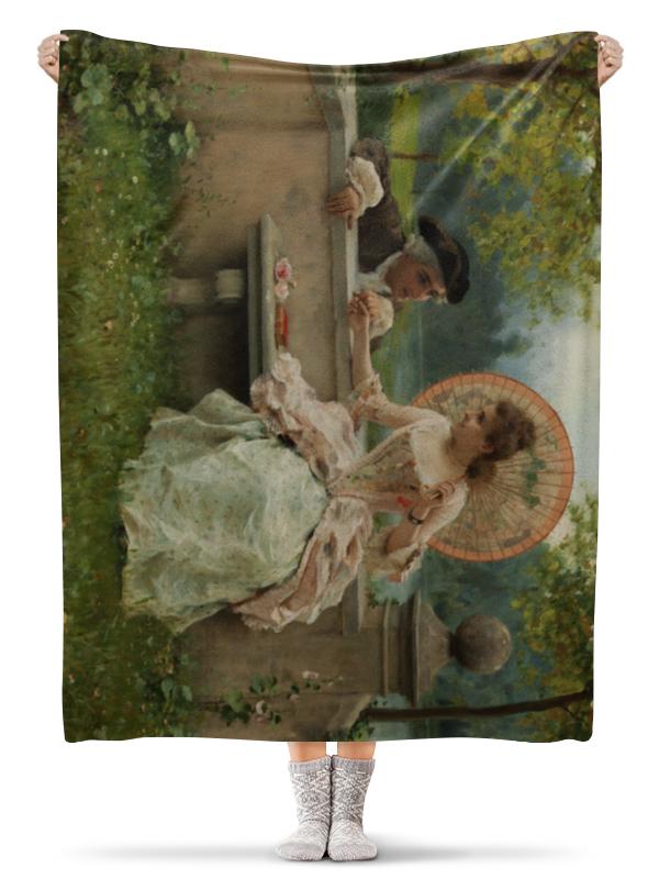 Printio Плед флисовый 130×170 см Любовный разговор в парке (федерико андреотти)