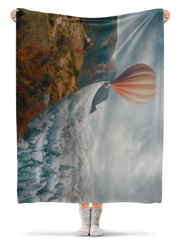 Printio Плед флисовый 130×170 см Смена времен года