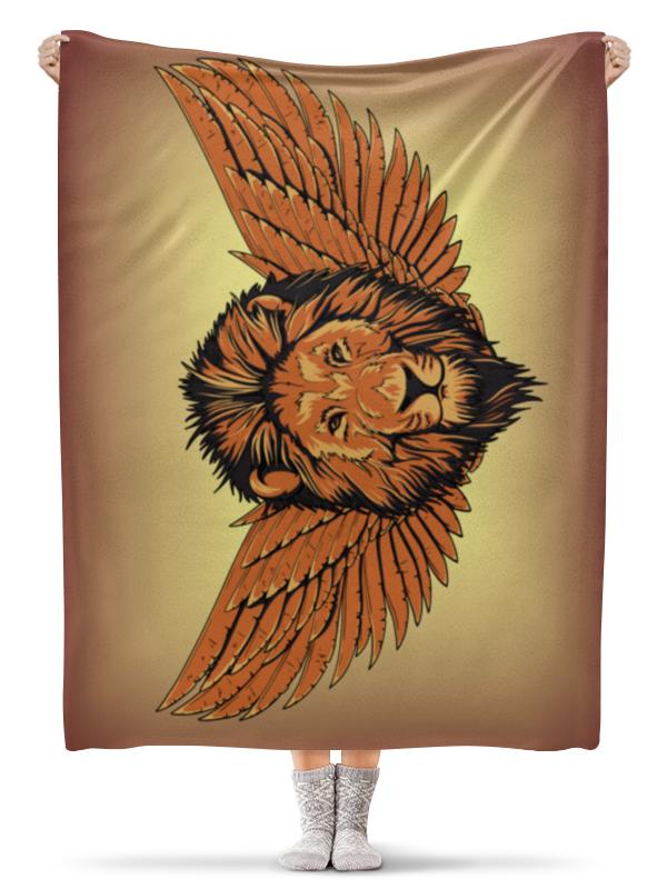 Printio Плед флисовый 130×170 см Крылатый лев