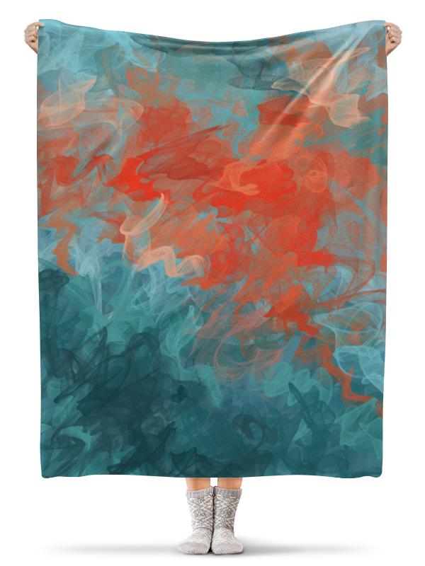 Printio Плед флисовый 130×170 см Абстрактный градиентный дизайн. дигитал акварель