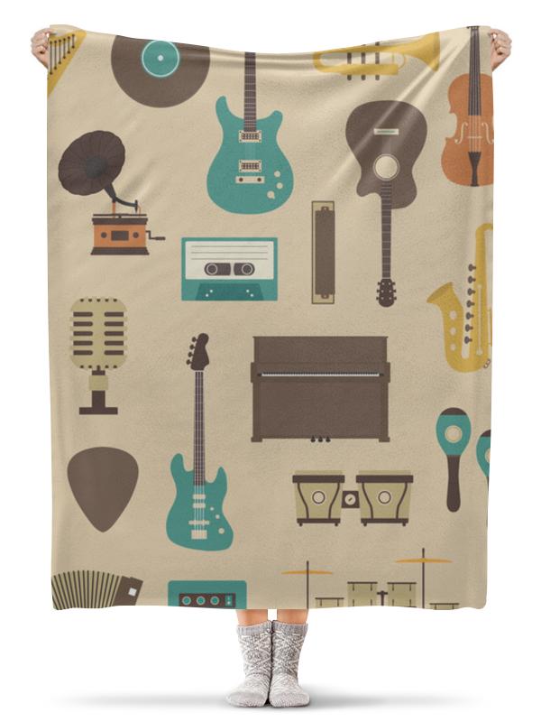Printio Плед флисовый 130×170 см Музыкальные инструменты