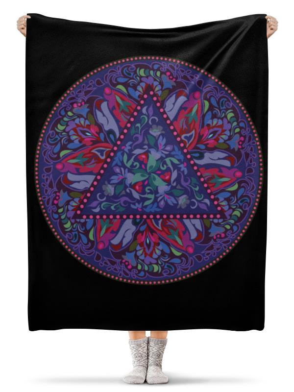 Printio Плед флисовый 130×170 см Мандала, фиолетовый круговой орнамент