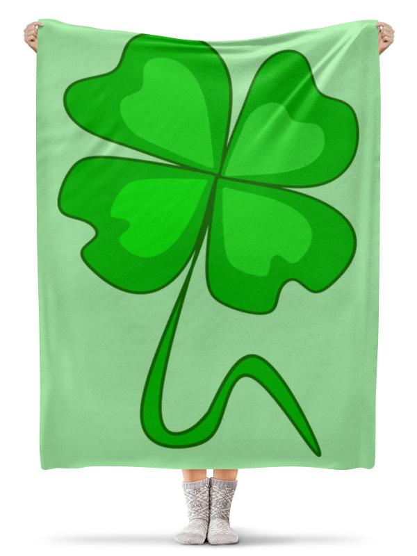 Printio Плед флисовый 130×170 см День святого патрика - волшебный четырехлистник