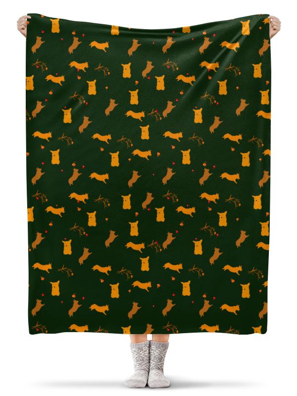 Printio Плед флисовый 130×170 см Золотой корж