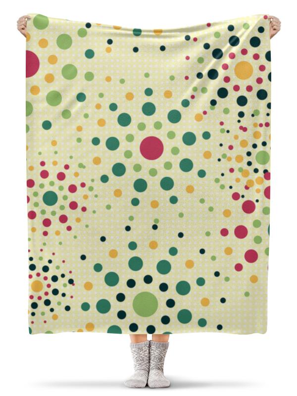 Printio Плед флисовый 130×170 см Круговой орнамент