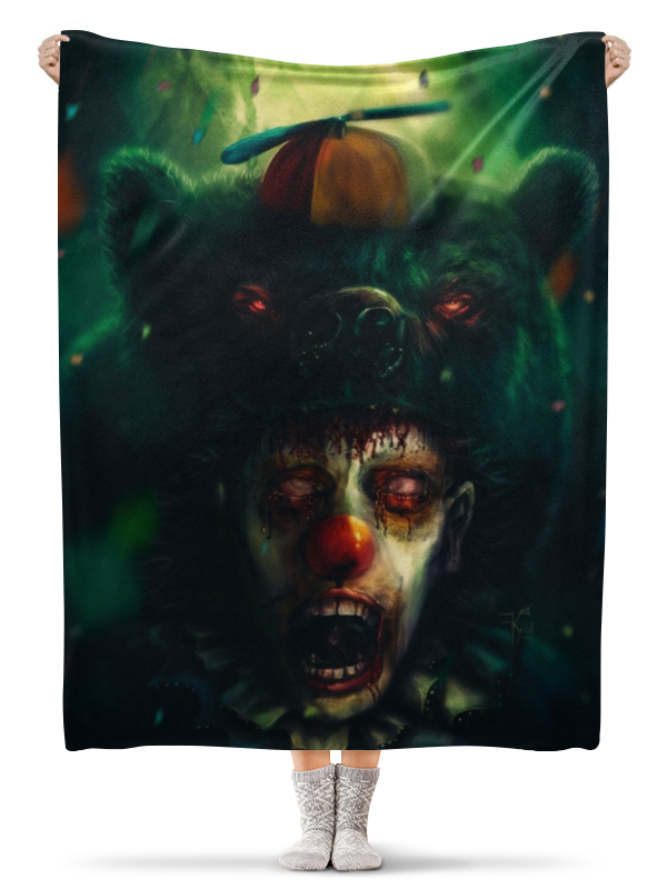 Printio Плед флисовый 130×170 см Клоун и медведь